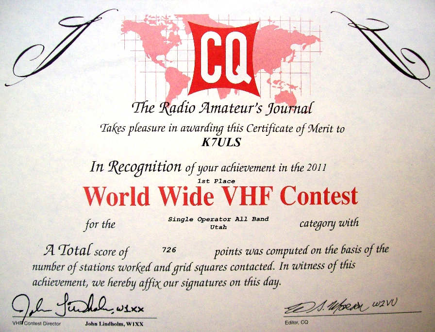 2011 CQ VHF