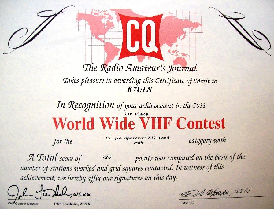 2011 CQ VHF