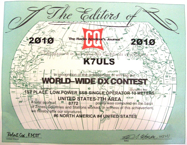 CQ WW SSB 2010