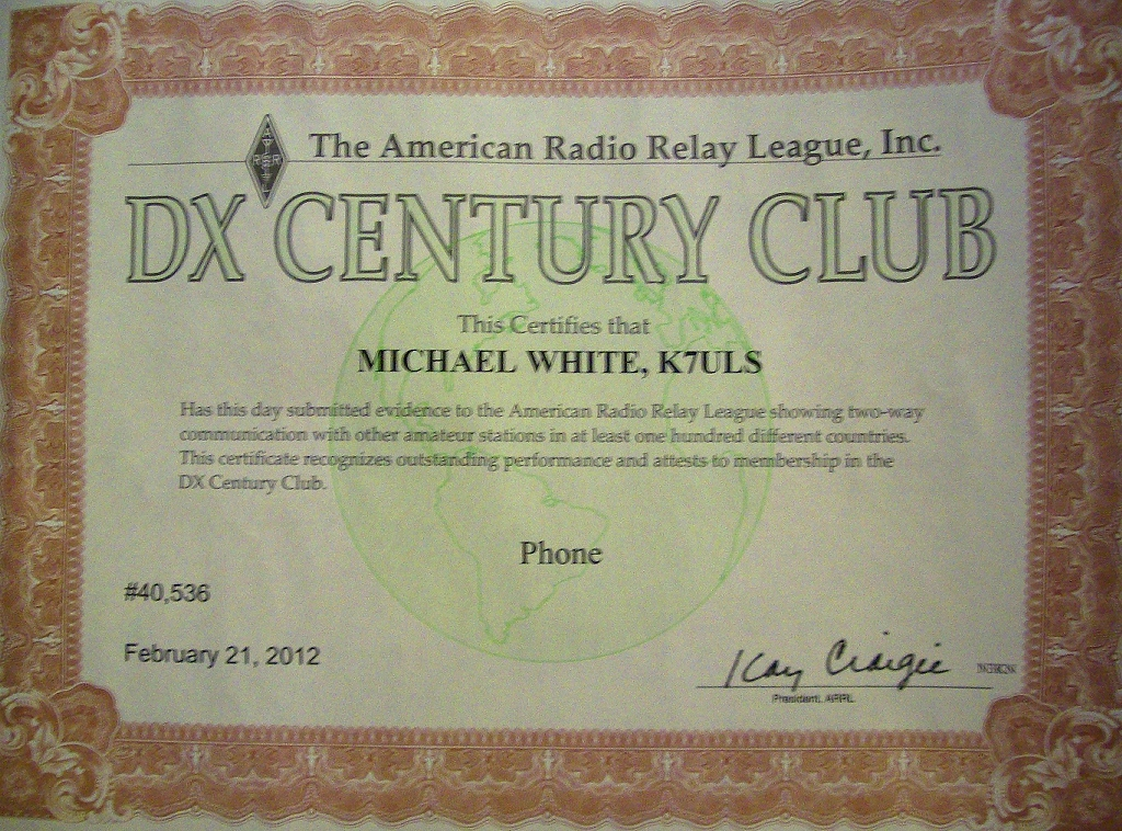 DXCC PHONE