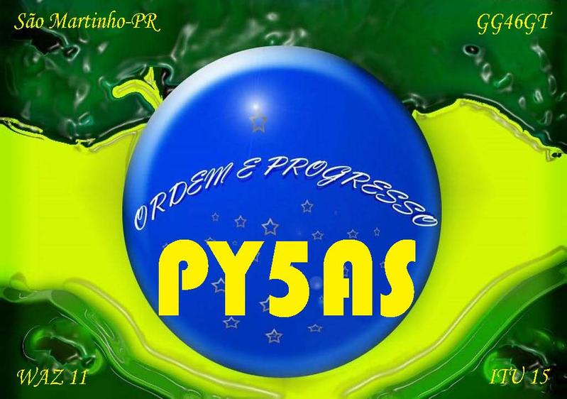 QSL image for PY5AS