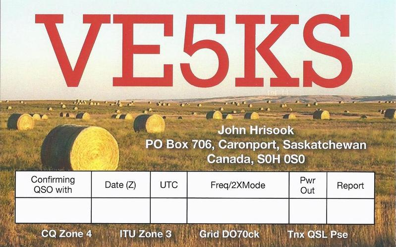 QSL image for VE5KS