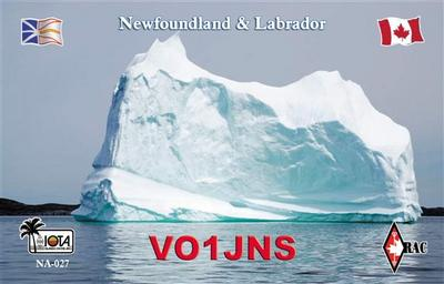 QSL image for VO1JNS