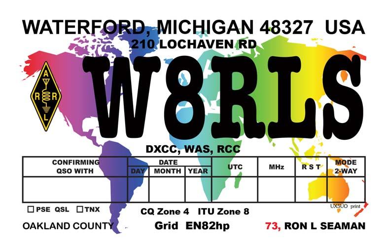 QSL image for W8RLS