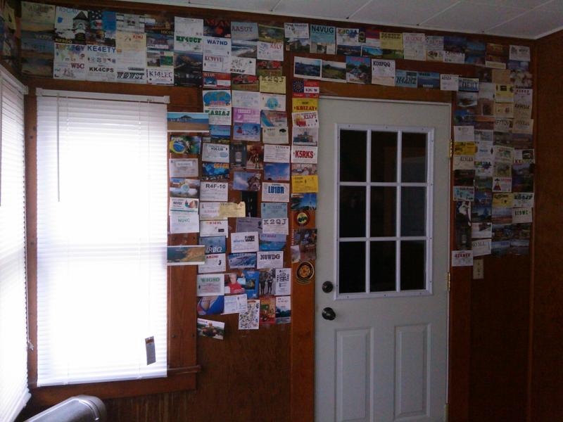 Wall of QSL CARDS