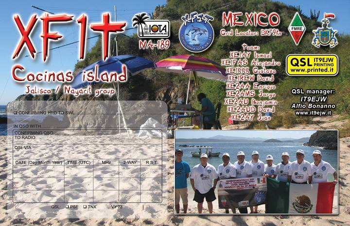 QSL image for XE1FAS