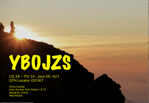 QSL image for YB0JZS