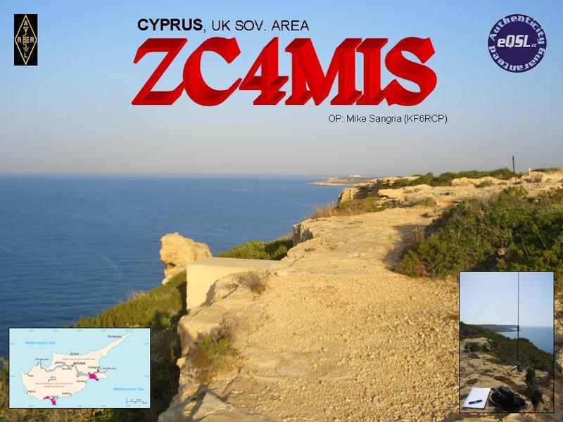QSL image for ZC4MIS