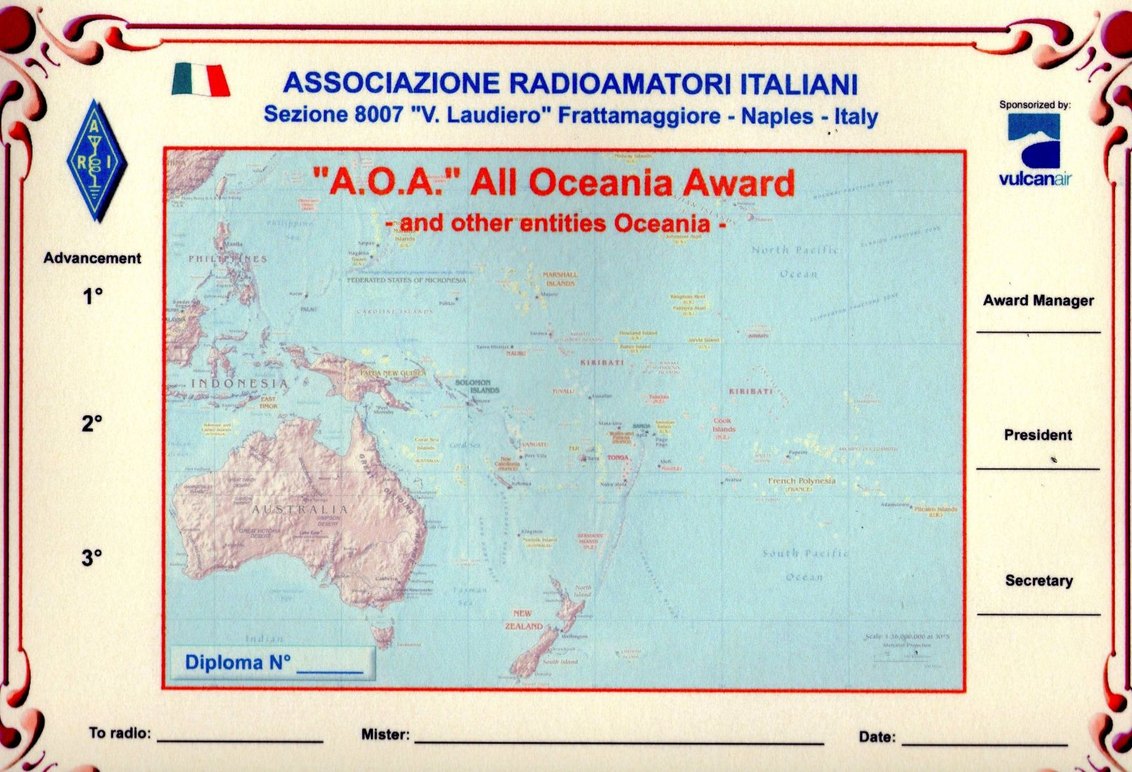 A .  O .  A . � All  Oceania  Award