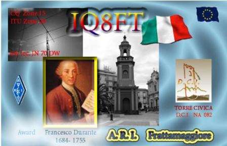 QSL image for IQ8FT