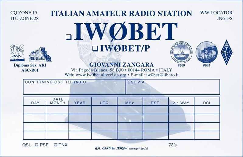 QSL image for IW0BET