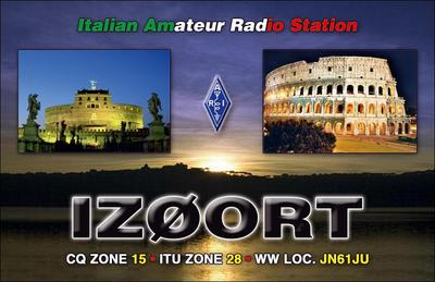 QSL image for IZ0ORT