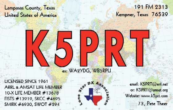 QSL image for K5PRT