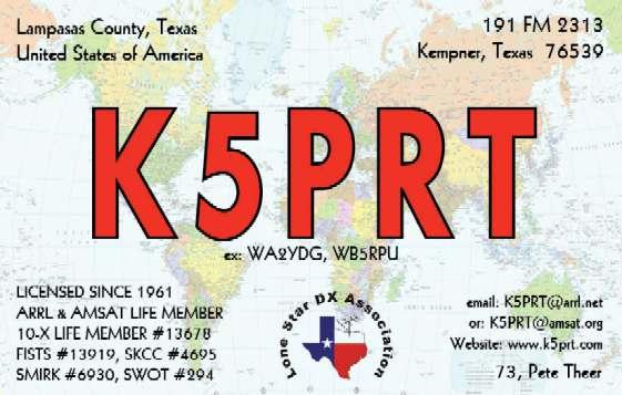 QSL image for K5PRT