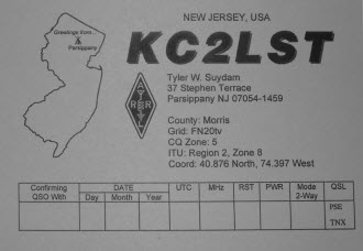 QSL image for KC2LST