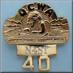 QCWA 40 Year Pin
