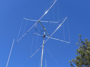 This is my current antenna system 10-15M Cubical Quad