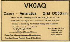 World First 2 way 6M Qso with Mainland Antarctica from any place on earth.