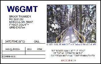 QSL image for W6GMT
