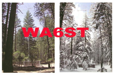 QSL image for WA6ST