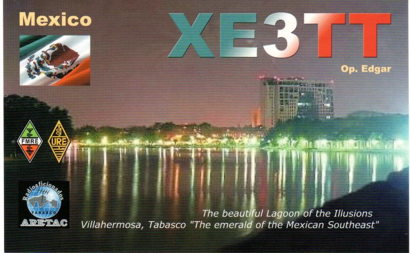 QSL image for XE3TT