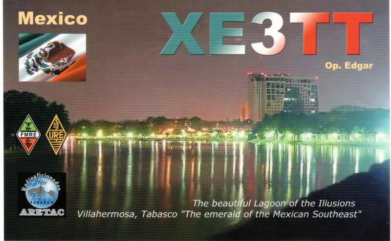 QSL image for XE3TT