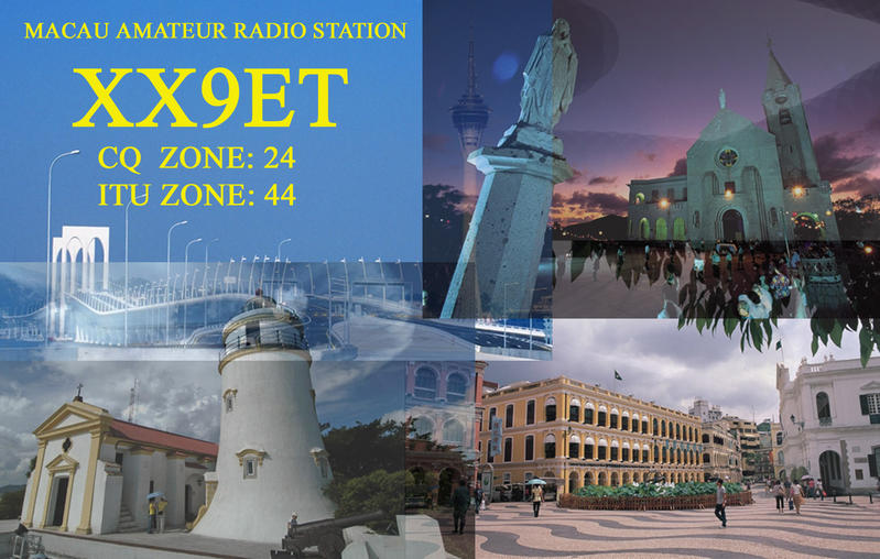 QSL image for XX9ET