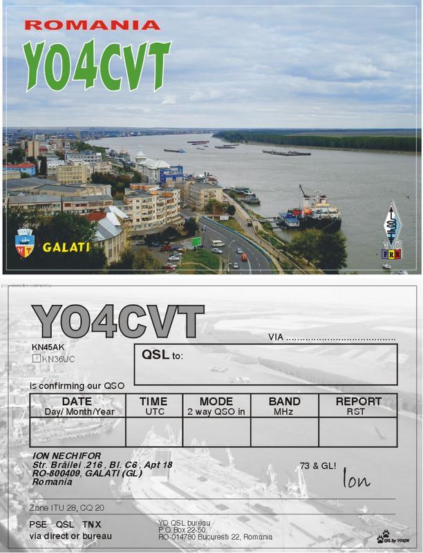 QSL image for YO4CVT