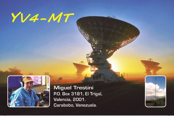 QSL image for YV4MT