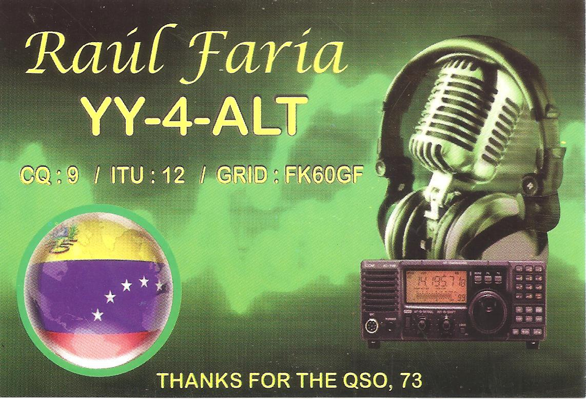 QSL image for YY4ALT