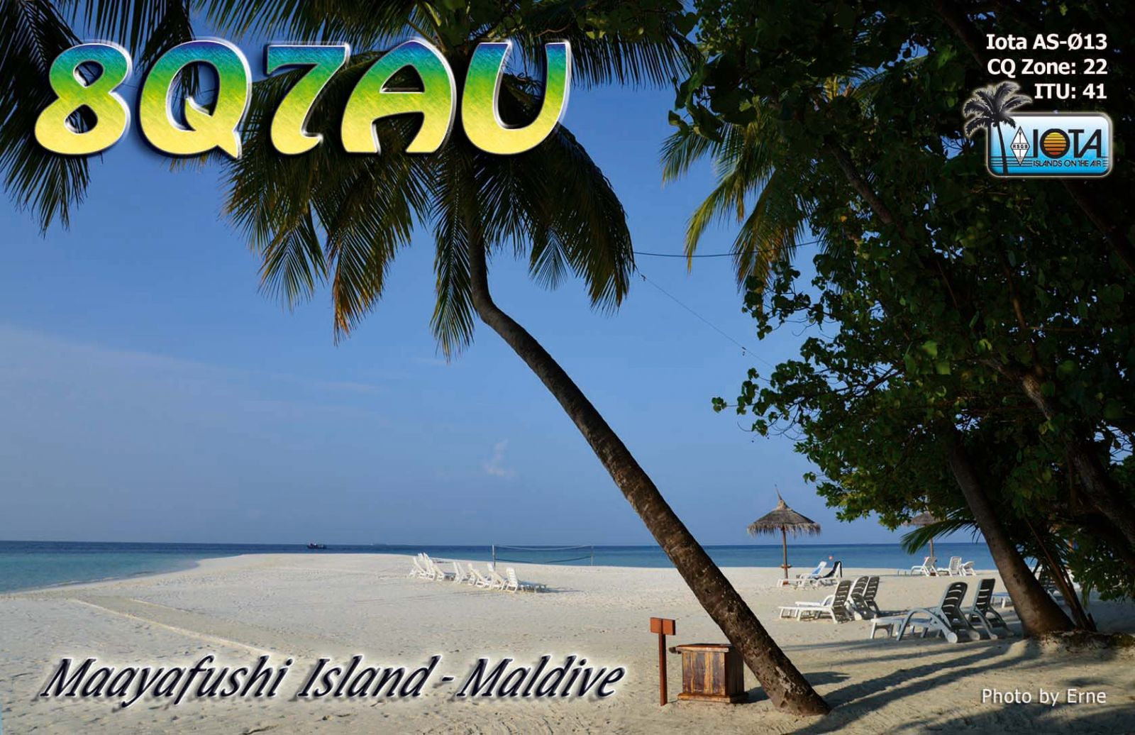 QSL image for 8Q7AU