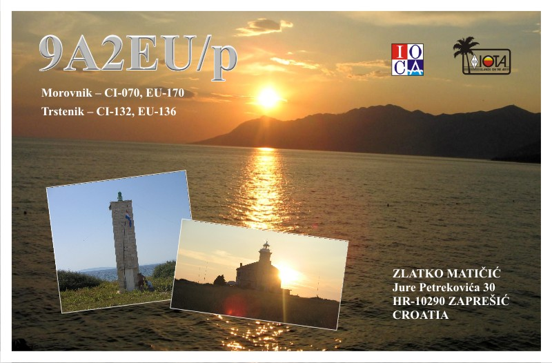 QSL image for 9A2EU