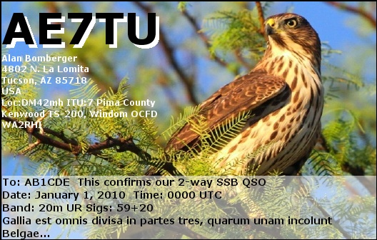 QSL image for AE7TU