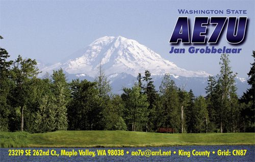 QSL image for AE7U