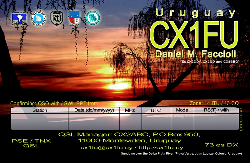 QSL image for CX1FU