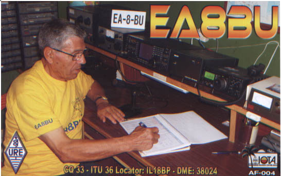 QSL image for EA8BU
