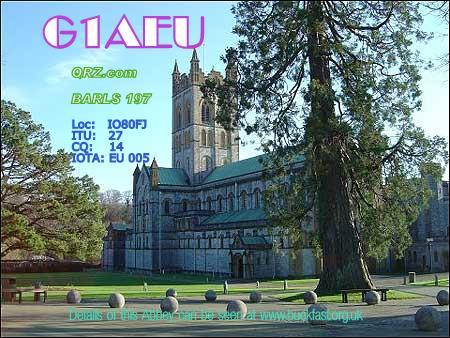QSL image for G1AEU