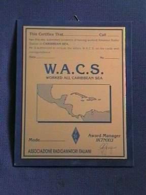 W.A.C.S. Award Plate
