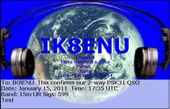QSL image for IK8ENU