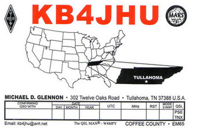 QSL image for KB4JHU