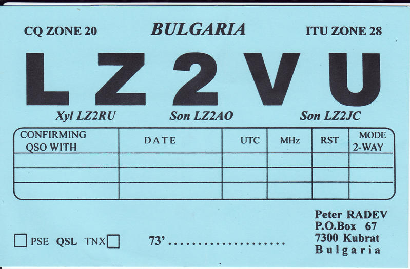 QSL image for LZ2VU
