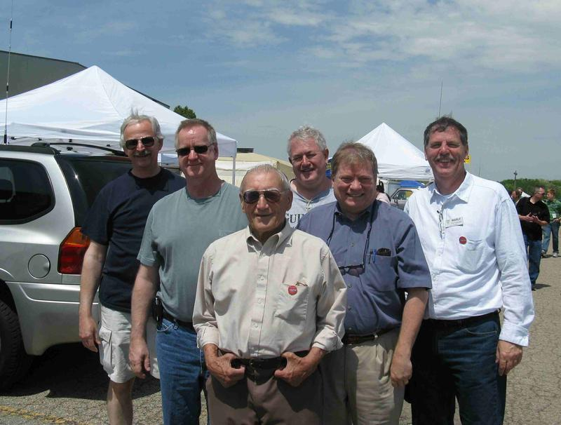 Recent photo of five past SJHSRC presidents and the club founder: L to R: Mike (WB