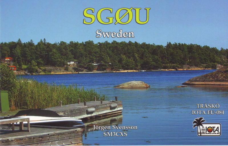 QSL image for SG0U