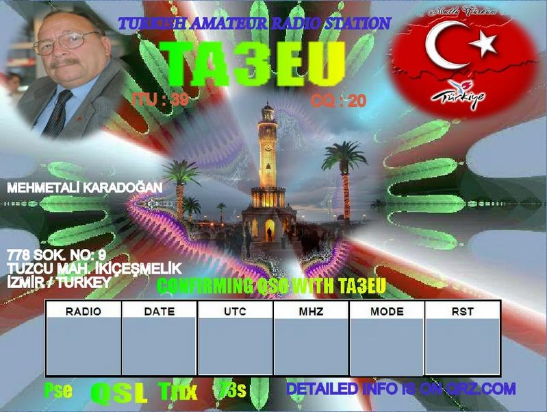 QSL image for TA3EU