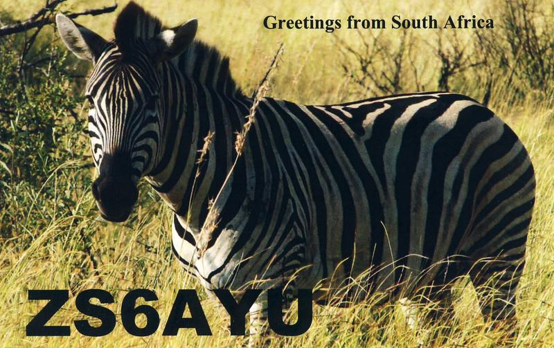 QSL image for ZS6AYU