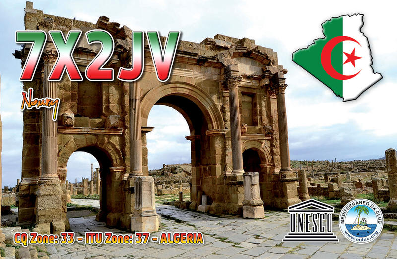 QSL image for 7X2JV