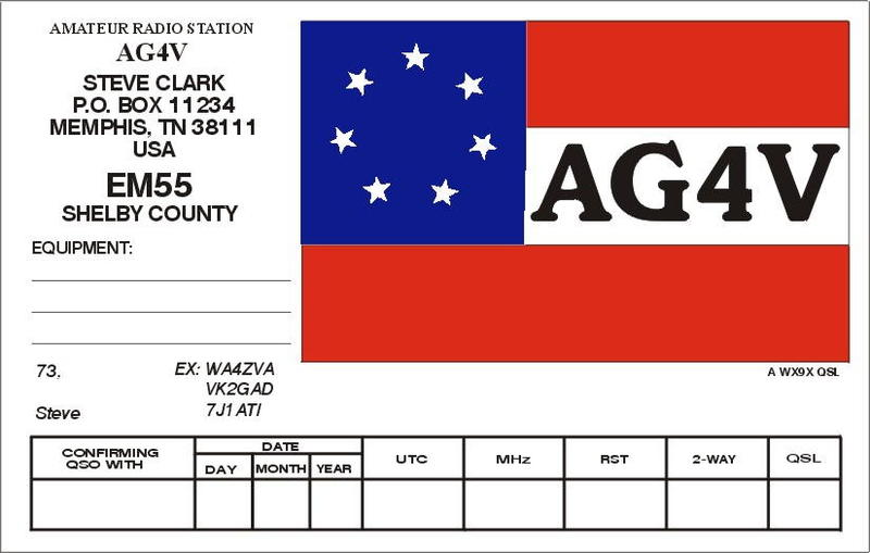 QSL image for AG4V