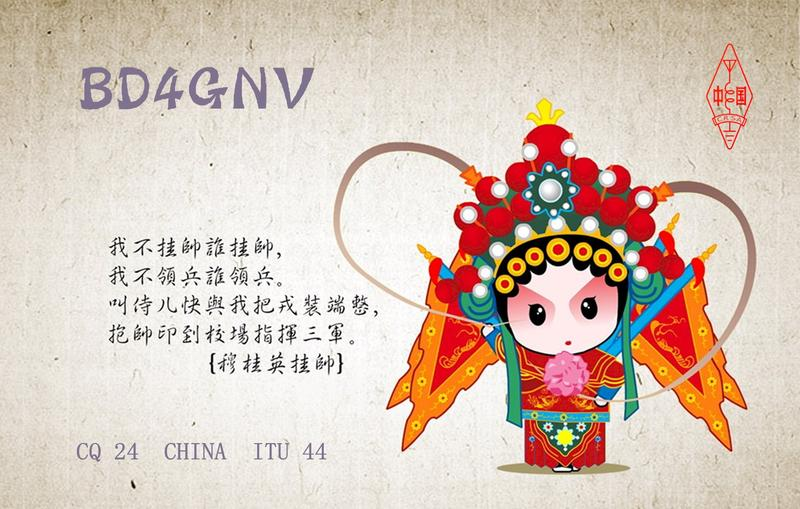 QSL image for BD4GNV