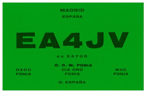 QSL image for EA4JV