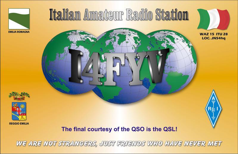 QSL image for I4FYV